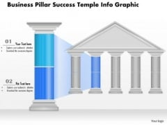 Business Diagram Business Pillar Success Temple Info Graphic Presentation Template