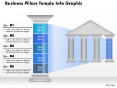 Business Diagram Business Pillars Temple Info Graphic Presentation Template