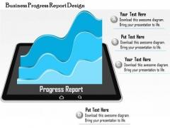 Business Diagram Business Progress Report Design Presentation Template