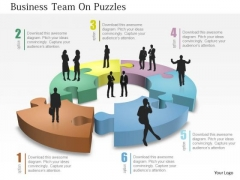 Business Diagram Business Team On Puzzles Presentation Template