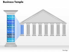 Business Diagram Business Temple Graphic With Pillar For Text Presentation Template