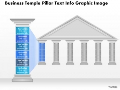 Business Diagram Business Temple Pillar Text Info Graphic Image Presentation Template