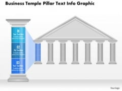 Business Diagram Business Temple Pillar Text Info Graphic Presentation Template