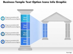 Business Diagram Business Temple Text Option Icons Info Graphic Presentation Template