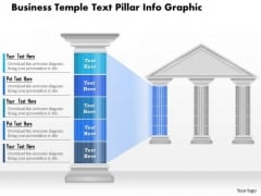 Business Diagram Business Temple Text Pillar Info Graphic Presentation Template
