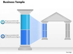 Business Diagram Business Temple With Highlighted Pillar Presentation Template
