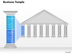 Business Diagram Business Temple With Pillar Text To Show Pillars For Business Presentation Template