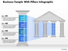 Business Diagram Business Temple With Pillars Infographic Presentation Template
