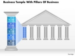 Business Diagram Business Temple With Pillars Of Business Presentation Template