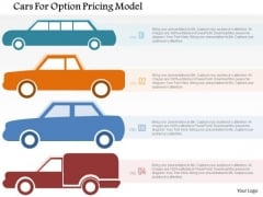 Business Diagram Cars For Option Pricing Model PowerPoint Templates