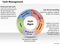 Business Diagram Cash Management PowerPoint Ppt Presentation