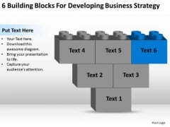 Business Diagram Chart Building Blocks For Developing Strategy Ppt PowerPoint Templates