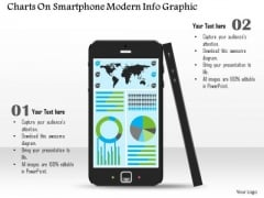 Business Diagram Charts On Smartphone Modern Info Graphic Presentation Template