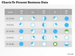 Business Diagram Charts To Present Business Data PowerPoint Templates