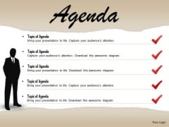 Business Diagram Checklist For Business Agenda With 3d Man Presentation Template