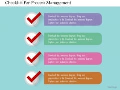 Business Diagram Checklist For Process Management Presentation Template