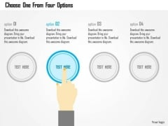 Business Diagram Choose One From Four Options Presentation Template