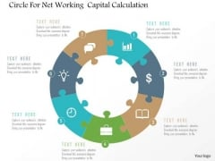 Business Diagram Circle For Net Working Capital Calculation Presentation Template