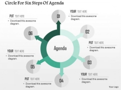 Business Diagram Circle For Six Steps Of Agenda PowerPoint Templates