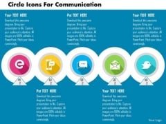 Business Diagram Circle Icons For Communication Presentation Template