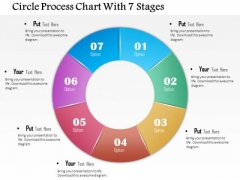 Business Diagram Circle Process Chart With 7 Stages Presentation Template