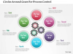 Business Diagram Circles Around Gears For Process Control Presentation Template