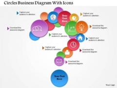 Business Diagram Circles Business Diagram With Icons Presentation Template