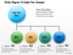 Business Diagram Circles Diagram To Explain Four Concepts Presentation Template