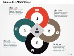 Business Diagram Circles For Abcd Steps Presentation Template