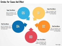 Business Diagram Circles For Cause And Effect Presentation Template