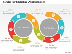 Business Diagram Circles For Exchange Of Information PowerPoint Templates