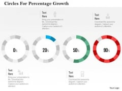 Business Diagram Circles For Percentage Growth Presentation Template