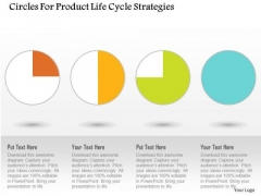 Business Diagram Circles For Product Life Cycle Strategies Presentation Template