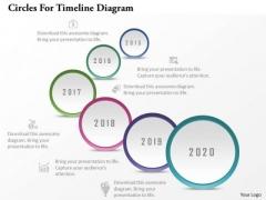 Business Diagram Circles For Timeline Diagram Presentation Template