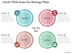 Business Diagram Circles With Icons For Strategy Plans Presentation Tempalte