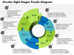 Business Diagram Circular Eight Stages Puzzle Diagram Presentation Template