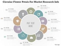 Business Diagram Circular Flower Petals For Market Research Info Presentation Template