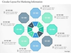Business Diagram Circular Layout For Marketing Information PowerPoint Templates