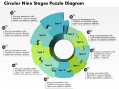 Business Diagram Circular Nine Stages Puzzle Diagram Presentation Template