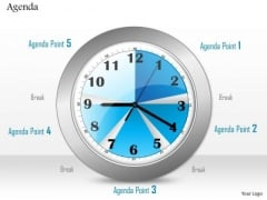 Business Diagram Clock To Show Time Management For Agenda Display Presentation Template
