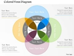 Business Diagram Colored Venn Diagram Presentation Template