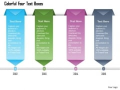 Business Diagram Colorful Four Text Boxes Presentation Template