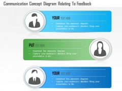 Business Diagram Communication Concept Diagram Relating To Feedback Presentation Template