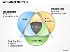 Business Diagram Consultant Network PowerPoint Ppt Presentation
