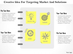 Business Diagram Creative Idea For Targeting Market And Solutions Presentation Template