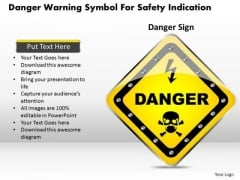 Business Diagram Danger Warning Symbol For Safety Indication Presentation Template