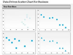 Business Diagram Data Driven Scatter Chart For Business PowerPoint Slide