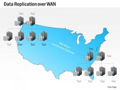 Business Diagram Data Replication Over Wan Wide Area Network Geographic Locations Ppt Slide