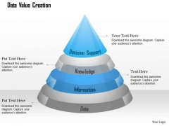 Business Diagram Data Value Creation Shown Using Pyramid Ppt Slide