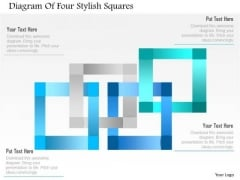 Business Diagram Diagram Of Four Stylish Squares Presentation Template